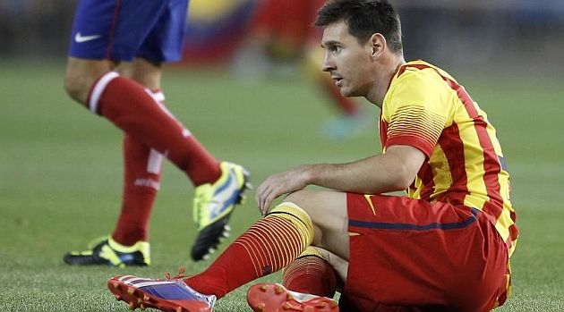 FC Barcelona, Lio Messi lesionado   Atlético de Madrid 1-1 FC Barcelona. [21.08.13]