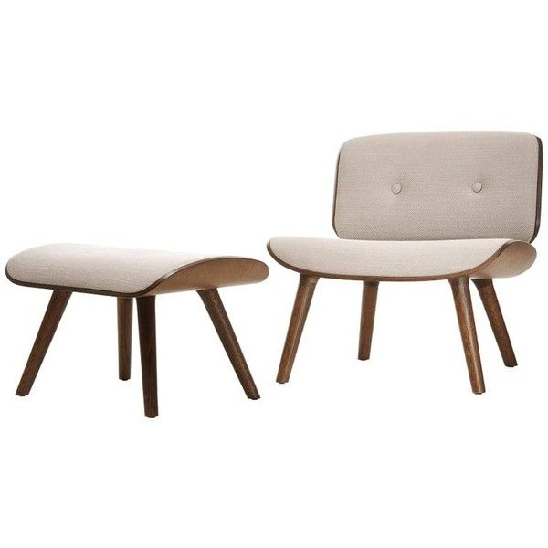 Moooi Nut Lounge Chair And Ottoman By Marcel Wanders In Fabric Or... (12.900 DKK) ❤ liked on Polyvore featuring home, furniture, brown, lounge chairs, moooi, leather furniture, moooi furniture, leather fabric furniture and upholstered furniture