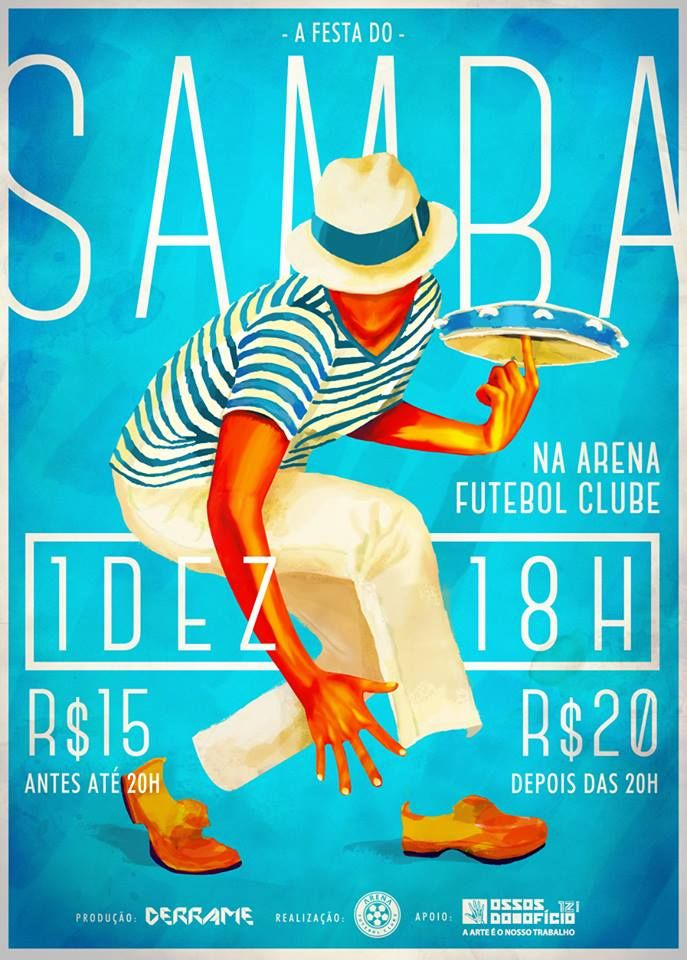 Samba - Brazilian dance and musical genre originating in Bahia, Brazil, and brought in by African slaves #todos