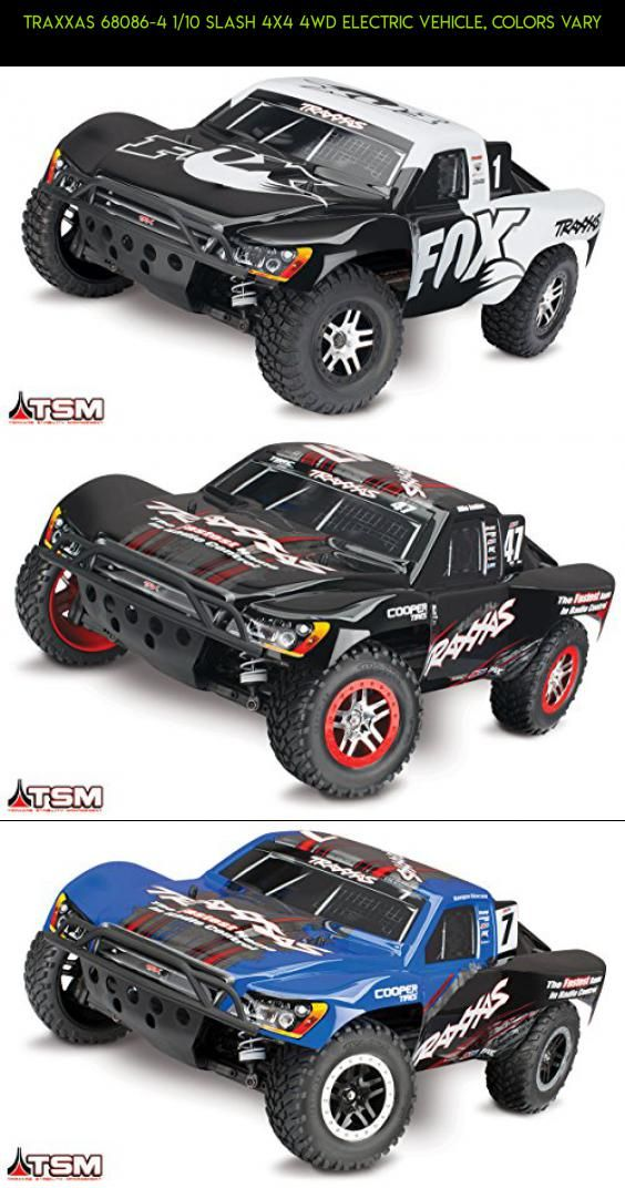 Traxxas 68086-4 1/10 Slash 4X4 4WD Electric Vehicle, Colors Vary #slash #racing #gadgets #products #kit #tech #plans #traxxas #4x4 #camera #drone #parts #fpv #shopping #technology