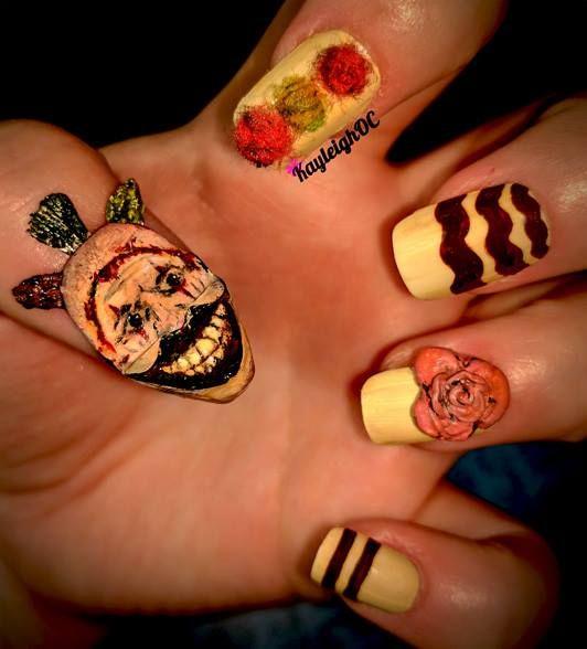 American Horror Story - Twisty The Clown Nail Art