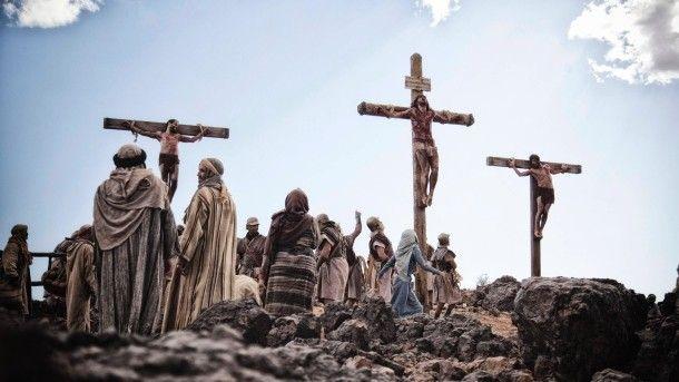 Die Kreuzigung Jesu auf dem Hügel Golgota
