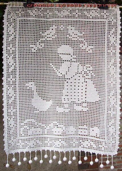 Les 25 meilleures id es concernant rideaux brise bise sur - Crochet a rideau ...