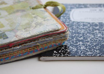 Tutorial on how to turn a lowly composition book into a thick and unique journal | Lil Blue Boo