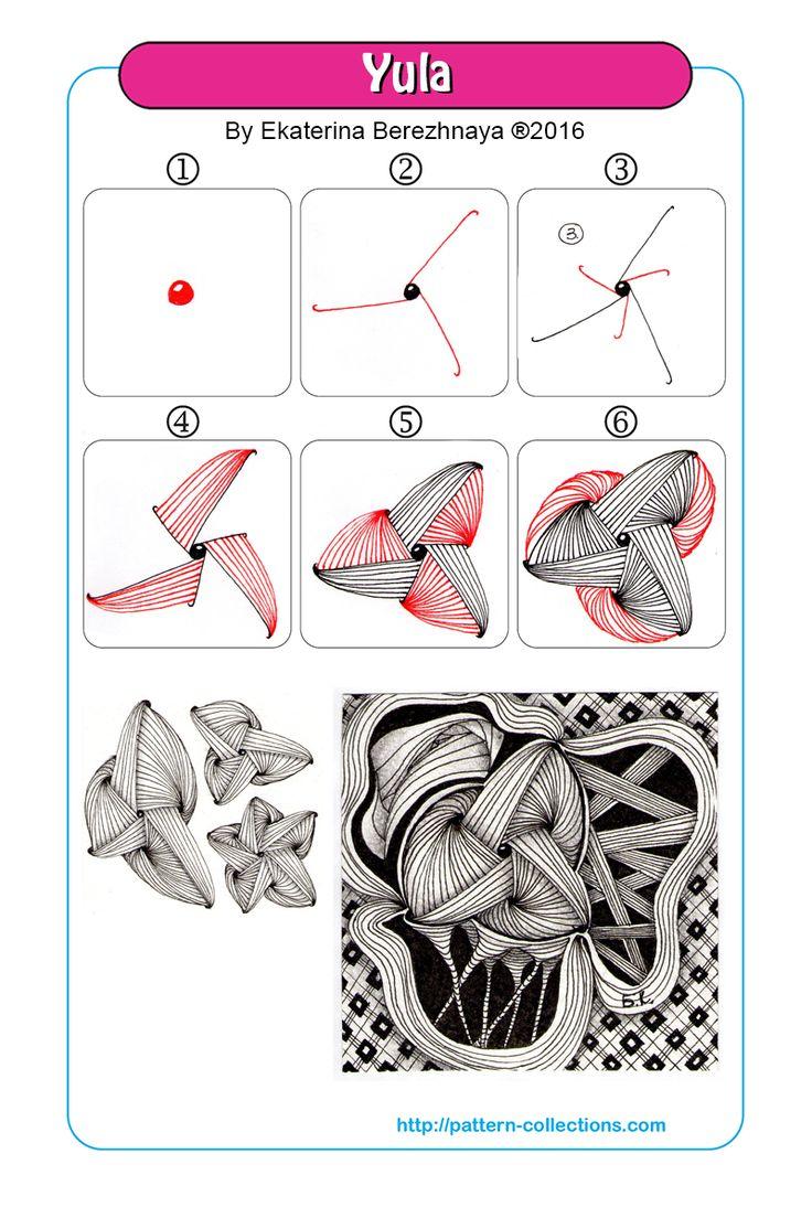 yula tangle pattern -by-ekaterina-berezhnaya  PatternCollections.com