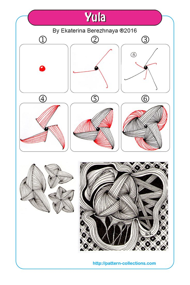 yula tangle pattern -by-ekaterina-berezhnaya  PatternCollections.com