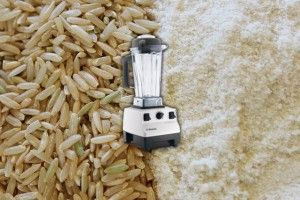 How to Make your own Gluten Free Organic Brown Rice Flour or White Rice Flour in less than 60 seconds from Whole Rice Grain in the VitaMix Blender.