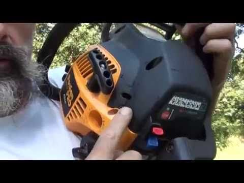 here is a simple how to for fixing your hard to start poulan chainsaw