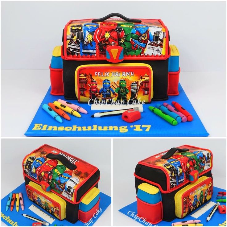 School bag Cake Einschulungstasche Cake (from fb: Hannover ChipChap Cake)