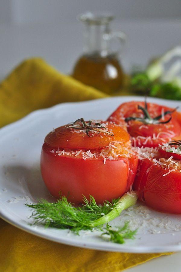 Zapiekane pomidory z fenkułem