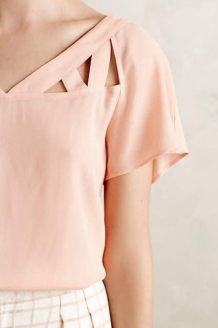 Tri-Cut Blouse - anthropologie.com #anthrofave #anthropologie