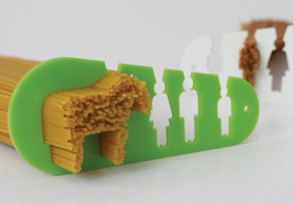 I Could Eat a Horse: A Spaghetti Measuring Tool.  A clever tool for measuring spaghetti portions by designer Stefán Pétur Sólveigarson available at the Reykjavík Corner Store