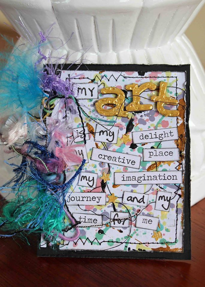 Project created by More Than Words DT member Heather McMahon for the June Mini Challenge using the word ART. More details at http://morethanwordschallenge.blogspot.ca/2016/06/june-mini-challenge.html #morethanwords #morethanwordschallenges #mtw
