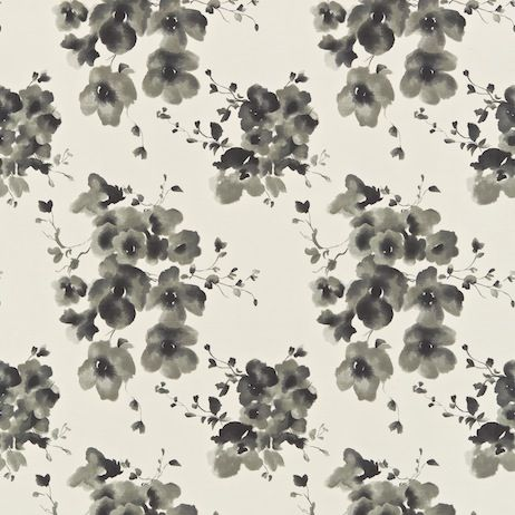 Sanderson Mandarin Flowers - black and white pretty for large backed chair