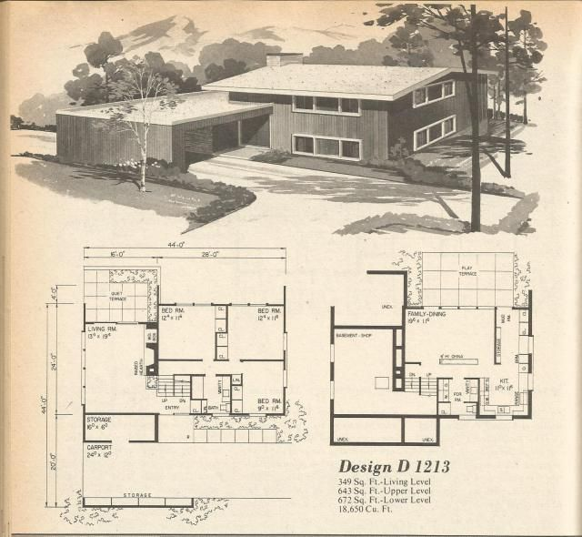 146 best images about vintage house plans 1970s on for 1960s home floor plans