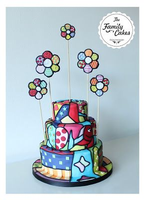 Bolo colorido Romero Britto / Romero Britto cake Colourful Cake - The Family Cakes