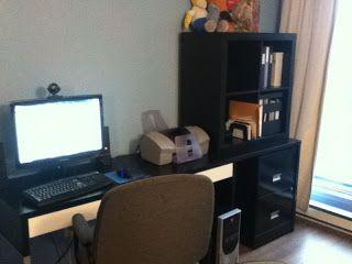 custom computer desk for whining husband ikea hackers httpwwwikeahackers - Custom Computer Desk Ideas