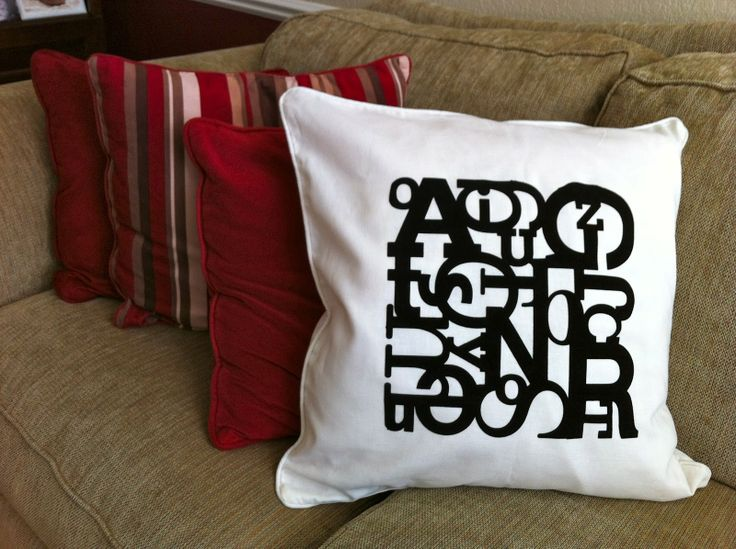 Obsessed With Scrapbooking Jumbled Letter Pillow With