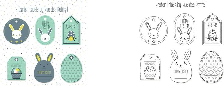 MARCH. Get ready for Easter with these cute bunny labels to colour in!