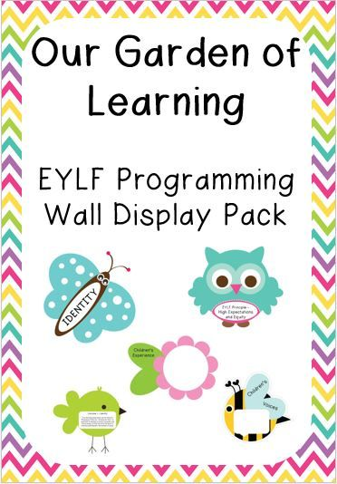 This is a beautifully designed pack containing everything you will need to display your programming in a beautiful garden theme.   The pack includes beautiful pictures containing all of the EYLF Outcomes, Theorists, Practices and principals..  It also contains pictures with spaces for experiences, children's voices and parent input as well as a title page.   There are OVER 60 items in this pack