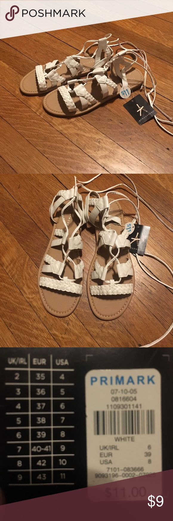 gladiator sandals! atmosphere white gladiator sandals NEW. from primark in a size 8. Atmosphere Shoes Sandals