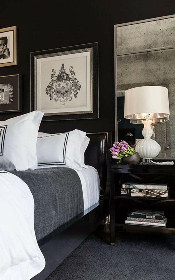 Schlafzimmer Schwarz 31 Beispiele Dass Schwarze Schlafzimmer Schick Und Wohnlich Sind Schlafzimmerrenovierung Maskulines Schlafzimmer Luxusschlafzimmer