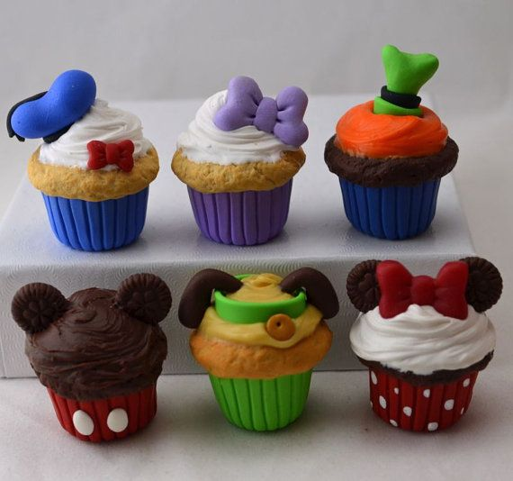 Disney inspired Fab 5  Pluto Cupcakes for by StaceyMorganStudios, $34.50