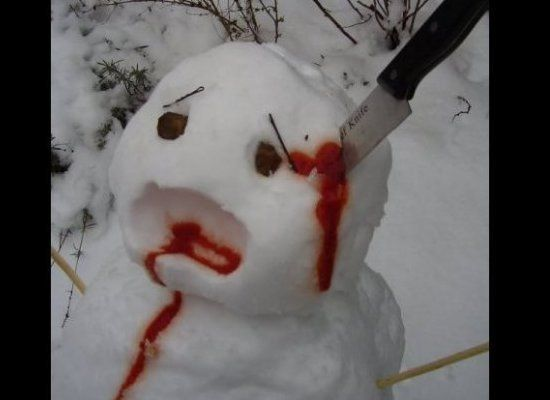 Best Snow Day Images On Pinterest Creative Ducks And Holiday - 18 creepy horror snowmen will take winter next level