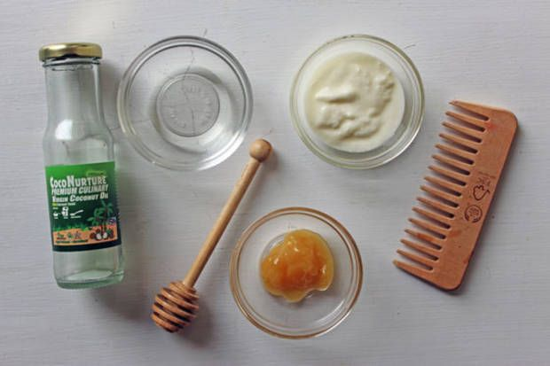 Cure those dry hair winter blues with a #DIY hair mask