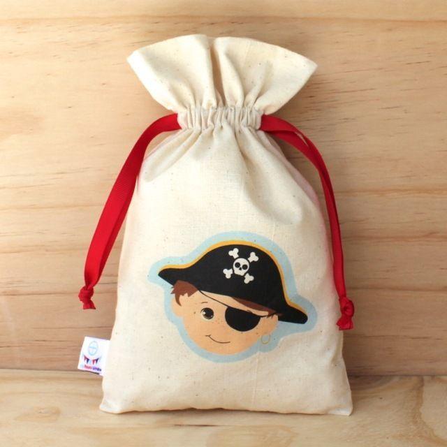 Pirate Calico Drawstring Bag