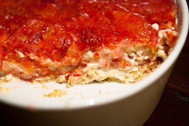 Trifle van bloedsinaasappel, mascarpone en amarettii