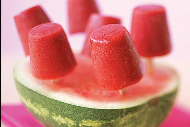 Sucettes glacées aux fraises                                                                                                                                                                                 Plus