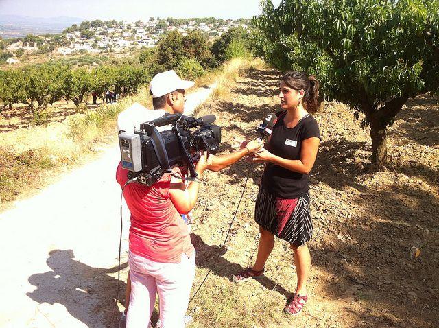 @TV3 fent un reportatge sobre la ruta per la terra del Préssec d'Ordal #Subirats #CapitaldelaVinya #Enoturisme #Penedes