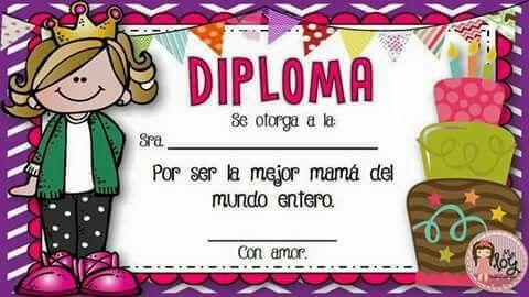 Diploma a mamá