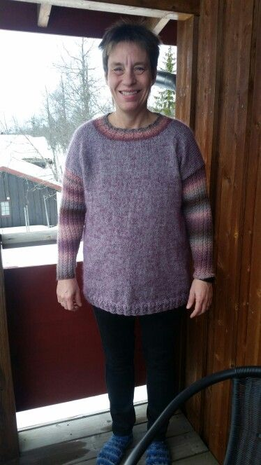 Sweater knitted in Wool, Alpaca and Mohair