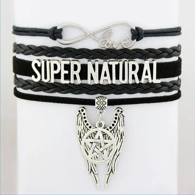 Jewellery - Supernatural Angel Wings Pentagram Bracelet