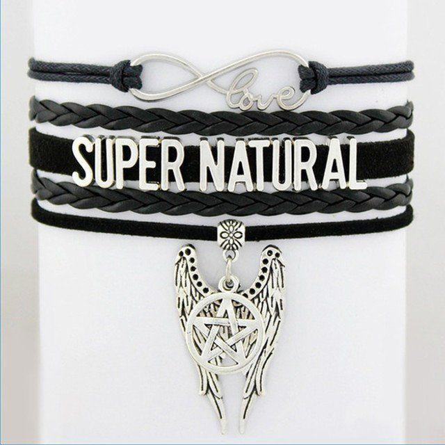 Jewellery - Supernatural Angel Wings Pentagram Bracelet