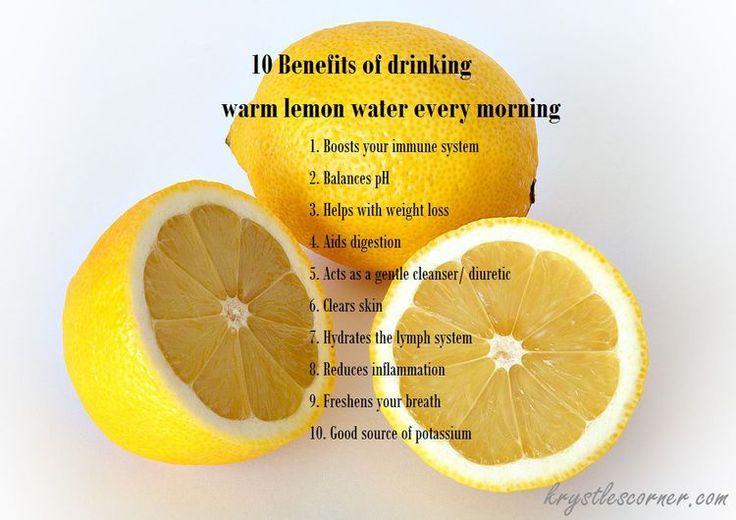 drinking warm lemon water every day Blog — Krystle's Corner