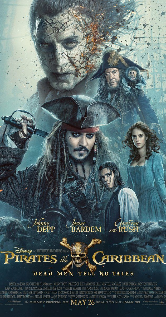 Directed by Joachim Rønning, Espen Sandberg.  With Johnny Depp, Geoffrey Rush, Javier Bardem, Orlando Bloom. Captain Jack Sparrow searches for the trident of Poseidon.