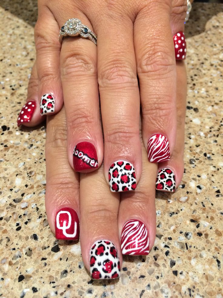 OU Boomer Sooner Nails