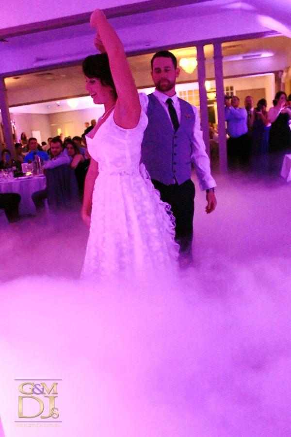 Dancing up a storm cloud during their first dance at Brisbane Golf Club | G&M DJs | Magnifique Weddings #gmdjs #magnifiqueweddings #weddinglighting #weddingdjbrisbane @gmdjs