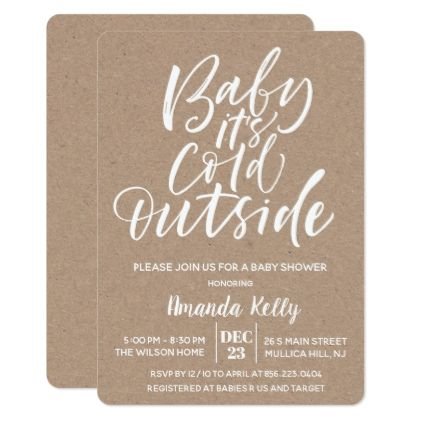 Baby Its Cold OutsideModern Baby Shower Invitation - invitations custom unique diy personalize occasions