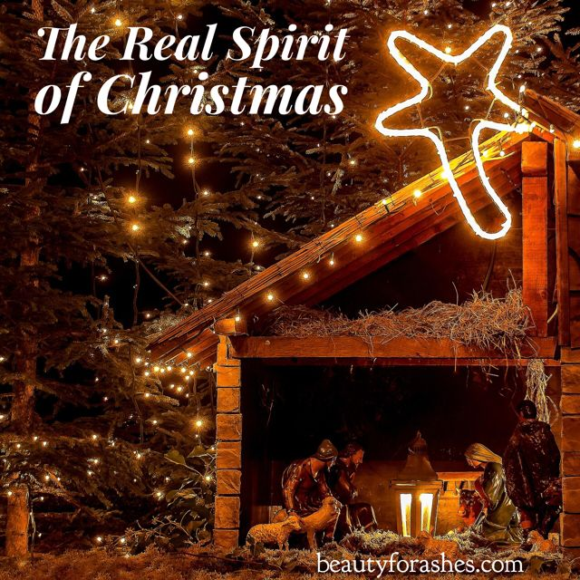 The Real Spirit of Christmas by Nicola Pearce. One of the phrases often heard in the Christmas holidays by Christians and non-Christians alike is 'The spirit of Christmas.' Many are mistaken about what the real spirit of Christmas is and I trust this will remind us again of what that really looks like.  The spirit