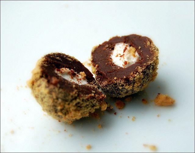 S'mores Truffles Recipe — Dishmaps