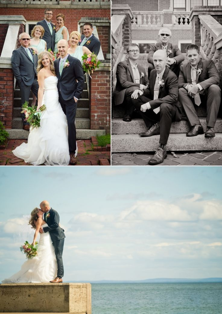 Stunning kiss picture!!!!  Angela Kissell Photography, Glensheen Mansion Wedding, Duluth Wedding on Lake Superior, Fall Lake Superior Wedding, Fall Duluth Wedding