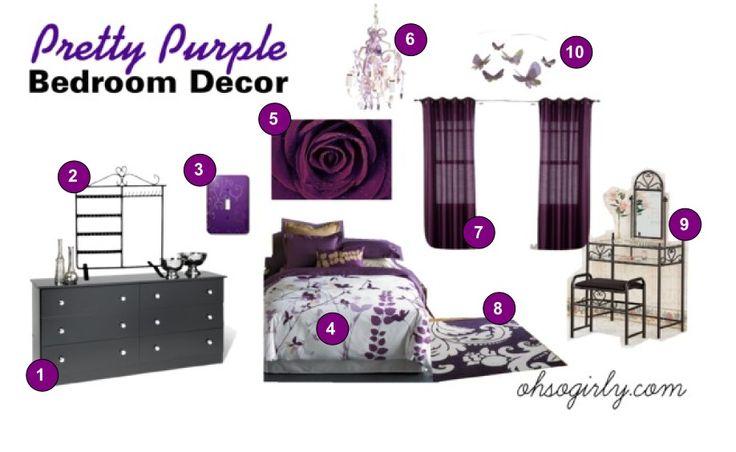 Best 25 dark purple bedrooms ideas on pinterest purple accent walls dark purple walls and - Dark purple bedroom for girls ...