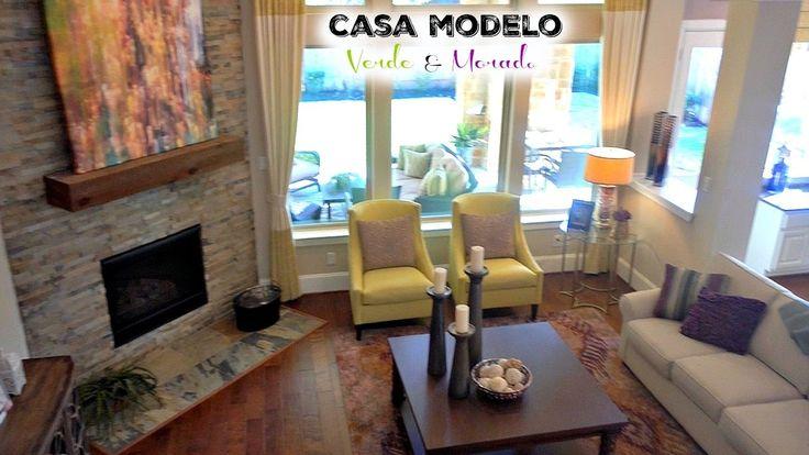 CASA MODELO | Decoración Verde y Morado