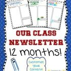 Themed newsletter templates for back to school and all year long!  What is included in this product?  *  12 monthly newsletter templates *  Plus, a...