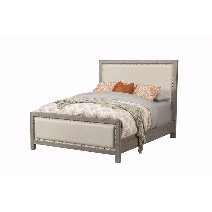 Pin By Mary Merritt On Home Sweet Home Fabric Upholstered Bed Upholstered Beds Upholstered Panel Bed