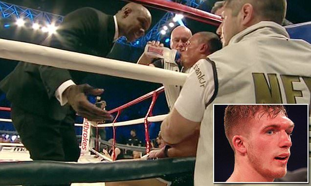 Chris Eubank Snr ordered his son not to aim Nick Blackwell's head